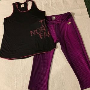 The North Face workout pants and matching top